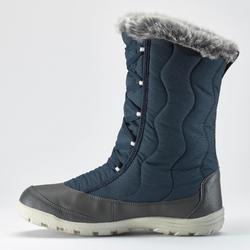 SH500 女式冬季徒步保暖系带雪地靴 X-WARM - 蓝色