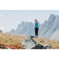 女式竞速徒步轻薄快干T恤 FH500 - 黑色