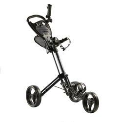 三轮小型高尔夫手推球车-黑色