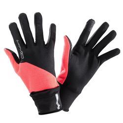 EVOLUTIV 夜跑手套-粉色 附带连指手套盖
