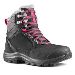 雪地鞋-女士-保暖-中帮-黑色 | QUECHUA SH520