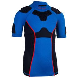 儿童橄榄球肩甲R500-蓝色