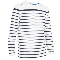 航海运动轻便防晒活动自如男士长袖T恤针织衫 TRIBORD Stretch 100