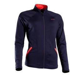 女士网球保暖夹克500-海军蓝