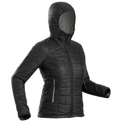 TREK 100 女式户外连帽保暖夹克 - 黑色