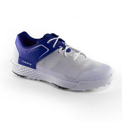 男士高尔夫鞋透气防滑白色和蓝色