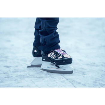 儿童溜冰鞋Fit 500- Blue/Pink