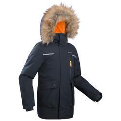SH500 男童青少年徒步防雪派克大衣 7-15岁 U-Warm 灰色