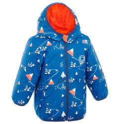 婴儿雪橇双面夹克Reversible Warm - Orange