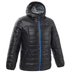 儿童山地徒步填充夹克(7-15 岁)MH500 - 黑色