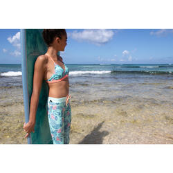 儿童防晒紧身裤Surf 500 - Green/Mint