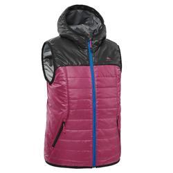 青少年山地徒步背心(7-15 岁)MH500 - 紫色