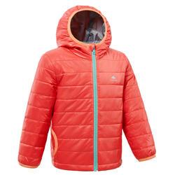 儿童山地徒步填充夹克 2-6 岁 - 粉色MH500