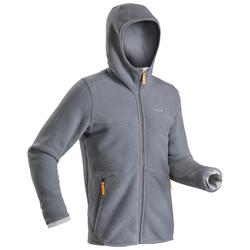 SH100 男式冬季徒步防雪摇粒绒保暖夹克 - 灰色