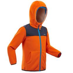 青少年登山徒步摇粒绒保暖夹克 500 2-6 岁 - 橙色