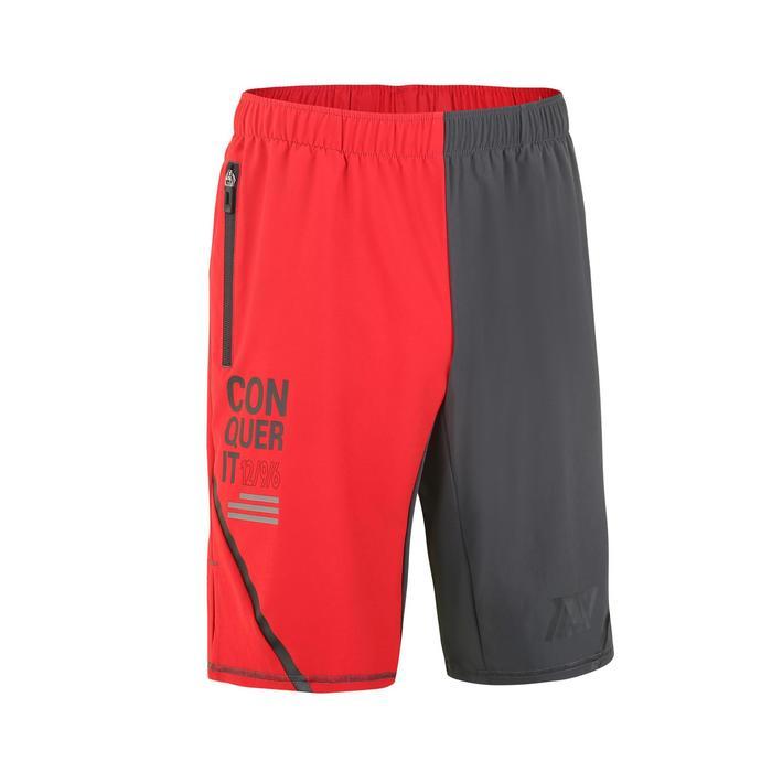 男式综合循环训练短裤 500系列 红色/灰色
