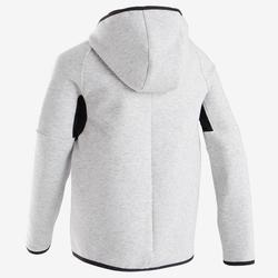 男童青少年体能保暖夹克500系列 - 斑驳浅灰色