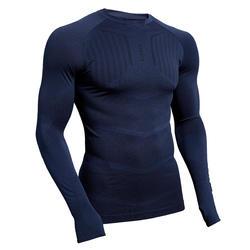 成人长袖训练紧身衣 Keepdry 500 - 深蓝色