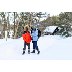 SH500 青少年男款冬季徒步防雪保暖夹克 U-WARM(7-15 岁码)- 红色