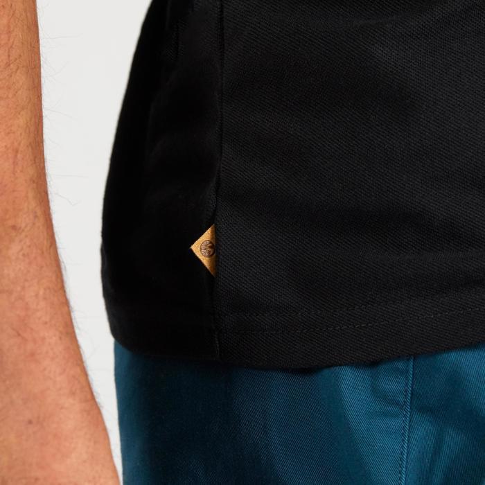 男士凉爽天气高尔夫polo衫500系列 黑色