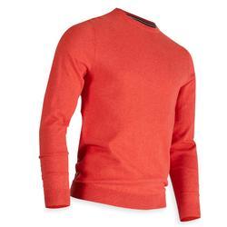 男士凉爽天气高尔夫套头衫-红色