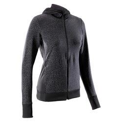 女式夜跑运动夹克-黑色