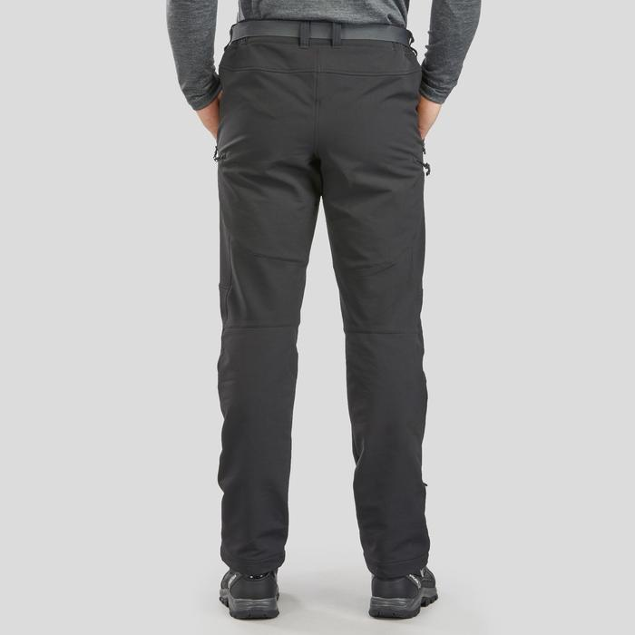 SH500 男式冬季雪地徒步保暖弹力长裤 X-WARM - 黑色
