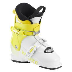 儿童双板滑雪鞋 PUMZI 500 - YELLOW