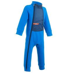 婴儿滑雪/雪橇摇粒绒内衬连体服Midwarm - Blue