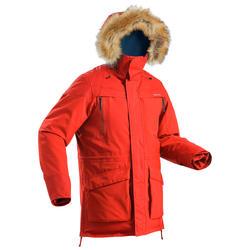 SH500 男式冬季徒步防雪保暖派克大衣 ULTRA-WARM - 红色