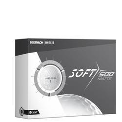 高尔夫球Soft 500系列 (12颗装) 哑光白色