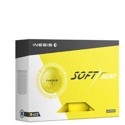 高尔夫球Soft 500系列 (12只装)黄色