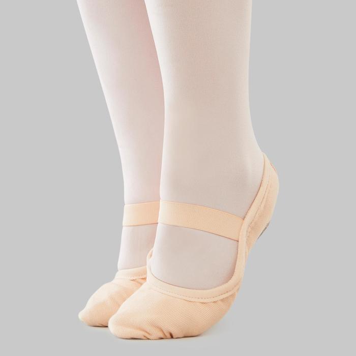 帆布全底软足尖鞋 8C 至 6.5 - 珊瑚色
