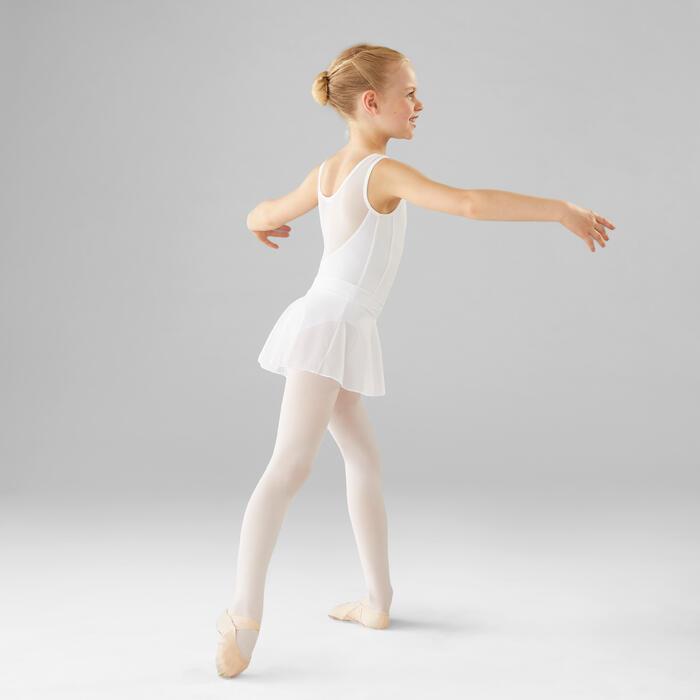 女童薄纱芭蕾舞裙 - 白色