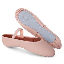 皮质全底软足尖鞋 7.5C 至 6.5 - 粉色