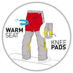 男式单板滑雪裤SNB PA 100 - Black