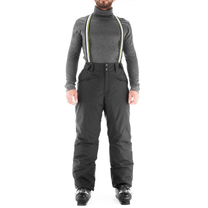 男式滑雪裤D-SKI 180 - BLACK