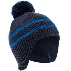 儿童滑雪帽 FLAP PERUVIAN - NAVY BLUE