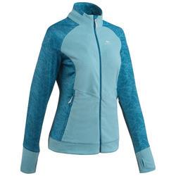女式山地徒步摇粒绒夹克 MH520 - 蓝色
