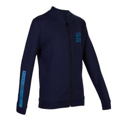 男童青少年体能保暖夹克100系列 - 斑驳蓝色