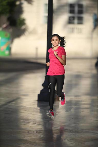 女性,跑步