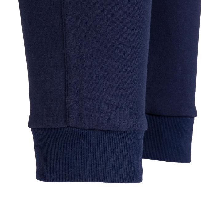 女式基础健身修身长裤 - 深蓝色