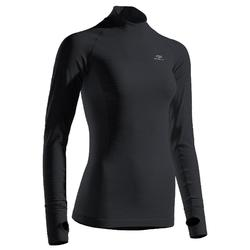 KIPRUN 女士长袖紧身跑步T恤 黑色