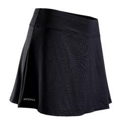 女士网球柔软短裙500-黑