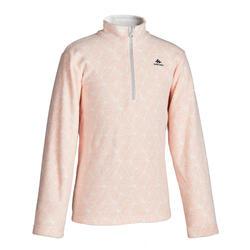 青少年山地徒步摇粒绒夹克 7-15 岁 - 粉色MH120