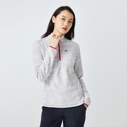 女式登山摇粒绒夹克 MH100 - 灰色