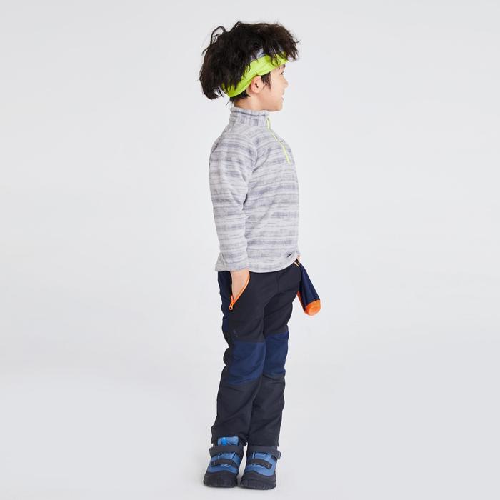 儿童山地徒步摇粒绒夹克 2-6 岁 MH100 - 灰色