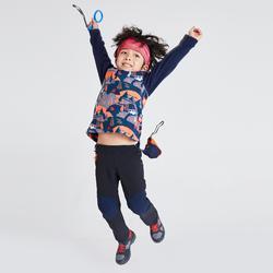 儿童山地徒步摇粒绒夹克 2-6 岁 MH100 - 深蓝色印花