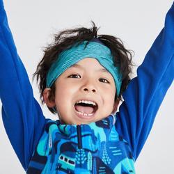 儿童山地徒步摇粒绒(2-6 岁)MH100 - 蓝色印花