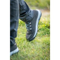 女式郊野徒步中帮防水靴 - 黑色 | NH500